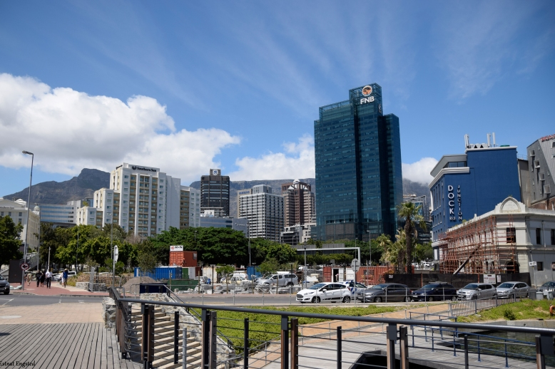 An image showing the centre of Cape Town seen from Waterfront.