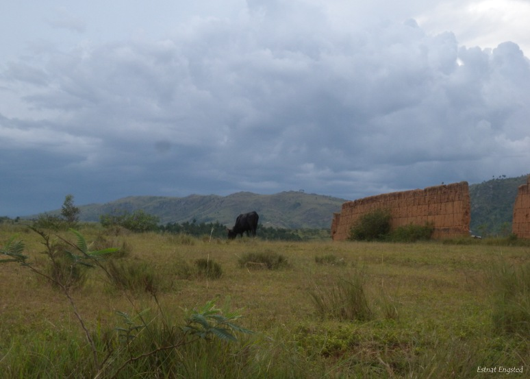The storm gathering above the landscape near Ambohimanga.