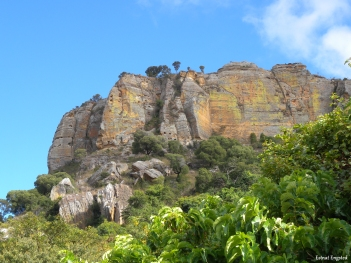 Rock formation in Isalo National Park, Madagascar.