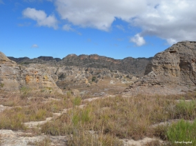 View of the landscape in Isalo National Park, Madagascar.