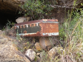 A coffin for a child buried in Isalo National Park (though this coffin is an example and not in use anymore).