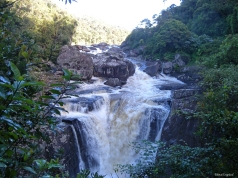 A waterfall on the road between Fiananrantsoa and Manakara, Madagascar.