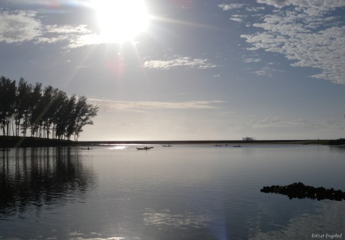 Morning light on the human-made lake of Manakara, Madagascar.