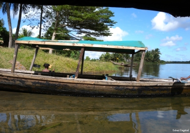 The boat we sailed on for our little canal trip, Manakara, Madagascar.