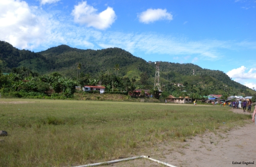 View of Ranomafana town, Madagascar.